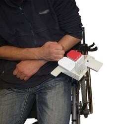 Appareil de vote fixé sur accoudoir avec un serre-joint