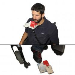 machine à vote accessible avec le menton ou le pied