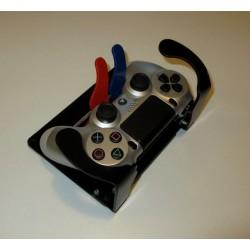 Manette de jeu PS4 adaptée pour utilisation d'une seule main avec détournement des commandes R1, L1 et R2, L2