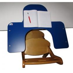 Tablette amovible à encoche pour l'école avec surface de travail à niveau pour l'écriture