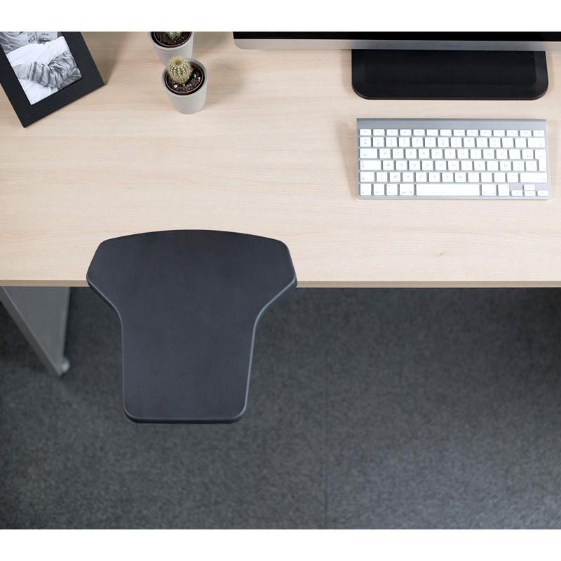 Repose-bras JUMBOREST noir amovible, pour plateau de bureau ou poste informatique