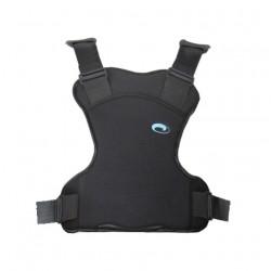 Gilet YZA de Nausicaa, adapté en harnais de maintien pour la voiture grâce à un système de fixation universel