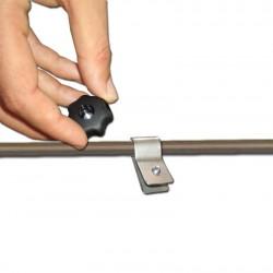 Bague de serrage métallique pour fixation d'accessoires sur le pied perche