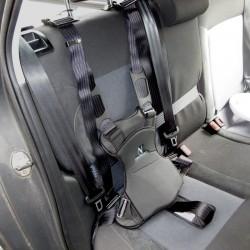 Harnais de maintien sur siège de voiture avec système d'accroche universel