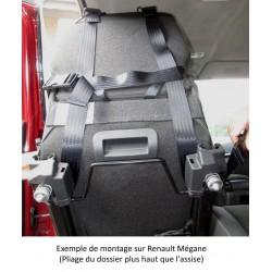 Dispositif de fixation universel pour l'accroche du harnais de maintien, adaptable à tout modèle de voiture