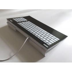 Guide doigt sur mesure pour clavier avec montage sur socle incliné