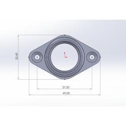 Dimensions pour l'embase universelle pyranha et Lettmann