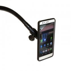 Support aimanté de smartphone ou téléphone portable sur flexible pour bureau ou fauteuil roulant.