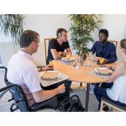 Tablette pour fauteuil roulant JUMBOREST MINI ACCESS pour repas ou activités