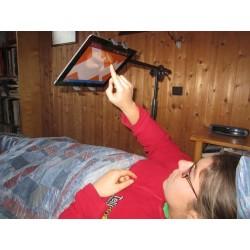 Pied perche pour l'utilisation d'un Ipad au lit,  support d'Ipad au dessus d'un lit
