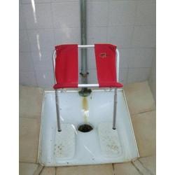 siège troué pliable, adapté sur toilette turque