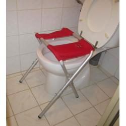 Rehausseur de WC pliant et transportable de voyage