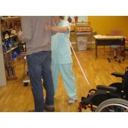 exemple d'accompagnement à la marche avec fauteuil