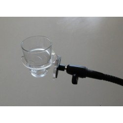 Support de verre polyvalent pour fauteuil roulant