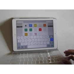 Guide-doigt rétractable pour clavier de tablette tactile ou ipad