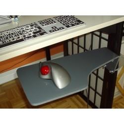 Tablette pour souris d'ordinateur fixée au pied de table