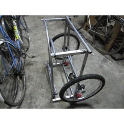 Remorque à vélo avant transformation