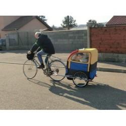Remorque à vélo rehaussée pour enfant handicapé