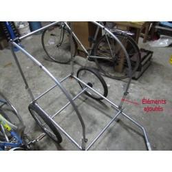 Détail de la structure métallique rehaussée