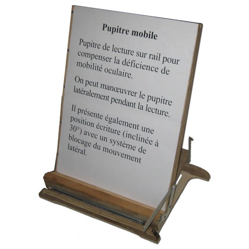 pupitre sur rail en position lecture
