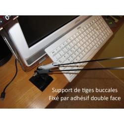 fixation de double support de tige buccale fixer avec adhésif double face