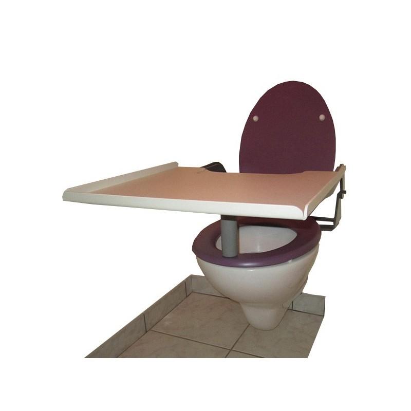 Tablette de lecture échancrée adaptée au siège des toilettes