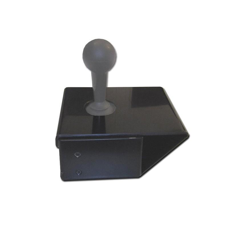 Surface d'appui autour de la manette de commande du fauteuil pour stabiliser la main