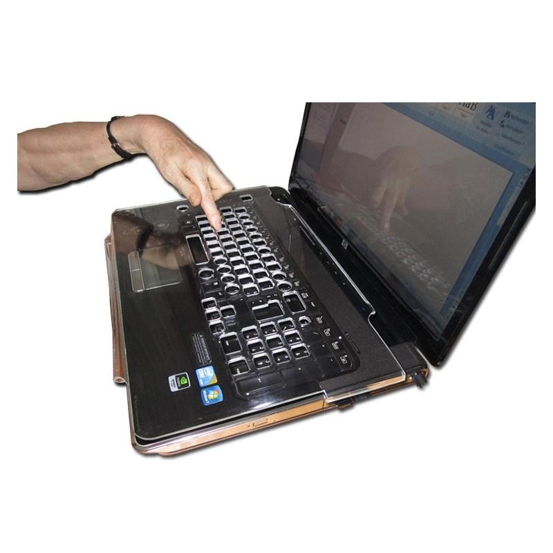 Guide-doigt sur mesure pour clavier, Guide doigts sur clavier d'ordinateur portable