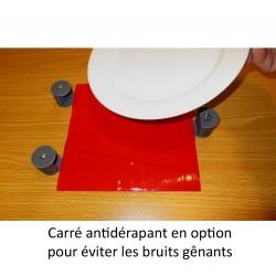Fixe assiette avec verrouillage adaptation avec un carré de dycem pour limiter les bruits