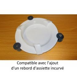 Fixe assiette avec verrouillage compatible avec un rebord d'assiette incurvé
