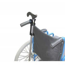 support de canne pour fauteuil pour personne hémiplégique