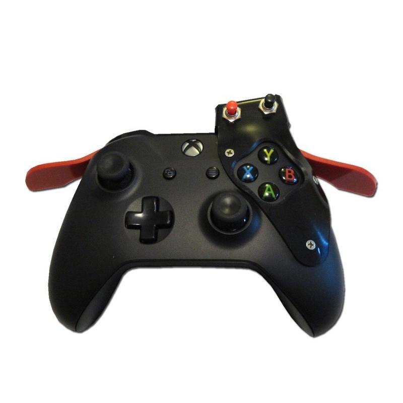 Manette de Xbox One personnalisée avec déport latéral des boutons RT et LT et avancement sur le dessus des boutons RB et LB