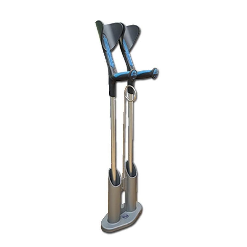 Porte canne ou béquilles économique et transportable pour poser les béquilles sans qu'elles tombent