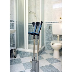 Support de canne ou béquille pour la salle de bain ou la douche