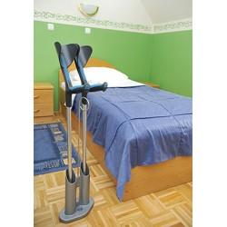 Porte canne et béquilles à poser près du lit