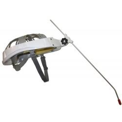 Licorne sur casque aéré pour personnes handicapées tétraplégiques, pour être autonome sans les mains.