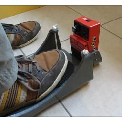 Pédale de looper actionnée à l'horizontal avec repose pied