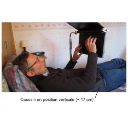 Coussin de positionnement pour travailler à l'ordinateur en position allongée