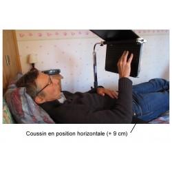 Coussin disponible en option pour caler le coude à bonne hauteur lors de l'utilisation de l'ordinateur au lit