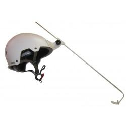 Licorne sur casque pour la pratique de la Boccia