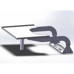 Tablette de lecture pour WC avec 3 rebords anti-chute