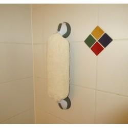 Gant mural pour se laver le dos ou faire sa toilette d'une seule main ou sans les mains