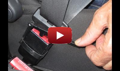 Vidéo de la manette d'ouverture pour ceinture de sécurité