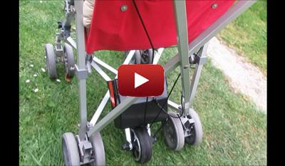 Vidéo de démonstration de la poussette motorisée