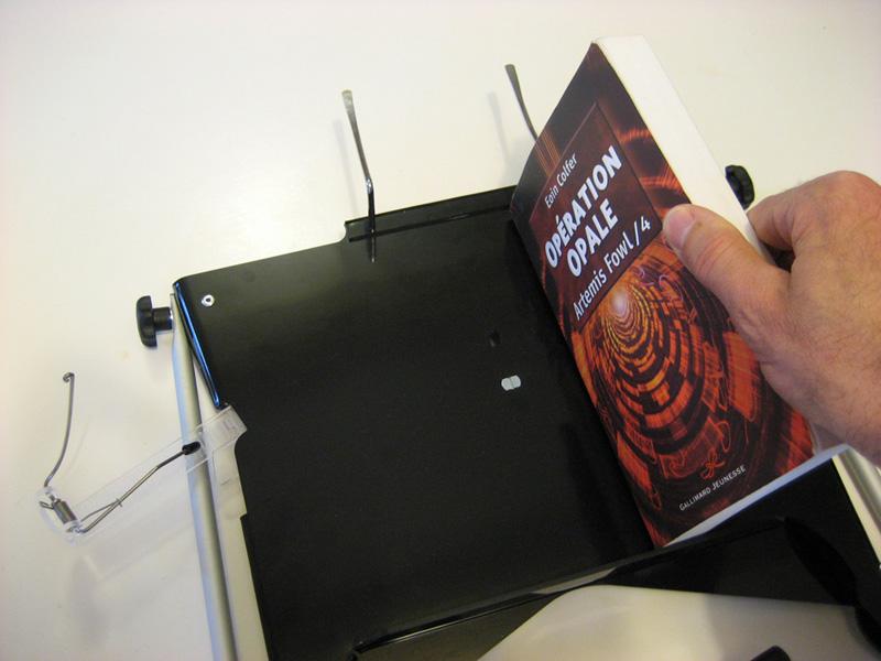 Réglage de la hauteur du livre